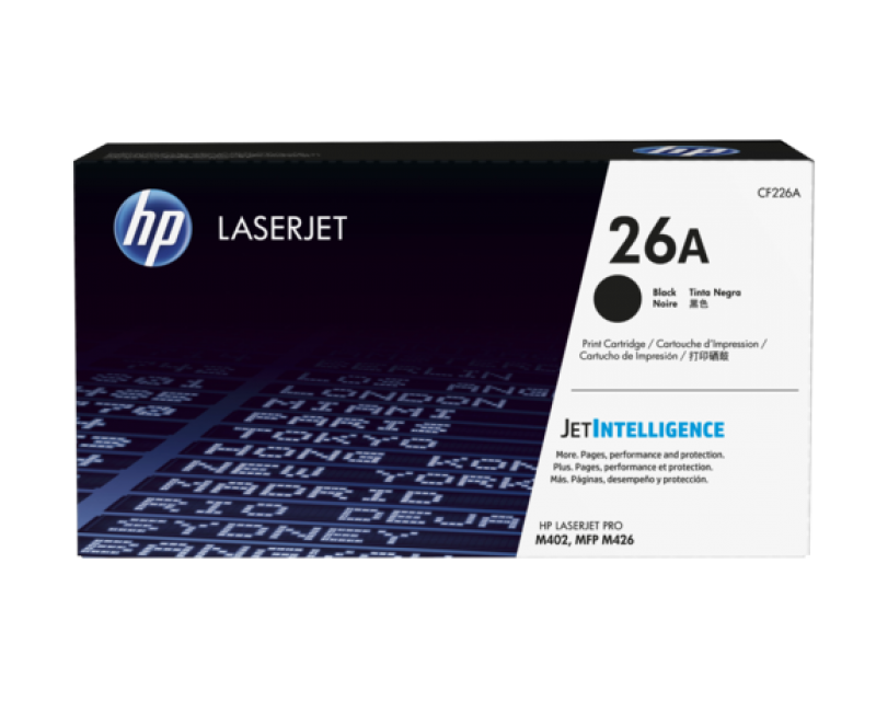 HP 26A Black Original LaserJet Toner Cartridge CF226A