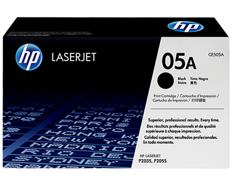 HP 05A Black Original LaserJet Toner Cartridge CE505A