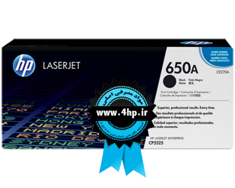HP 650A Black Original LaserJet Toner Cartridge CE270A