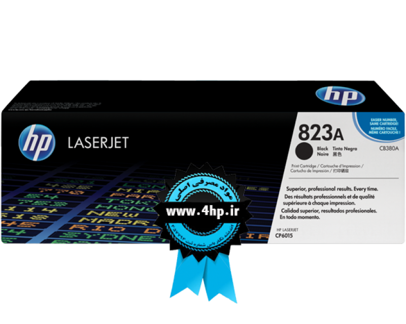 HP 823A Black Original LaserJet Toner Cartridge CB380A