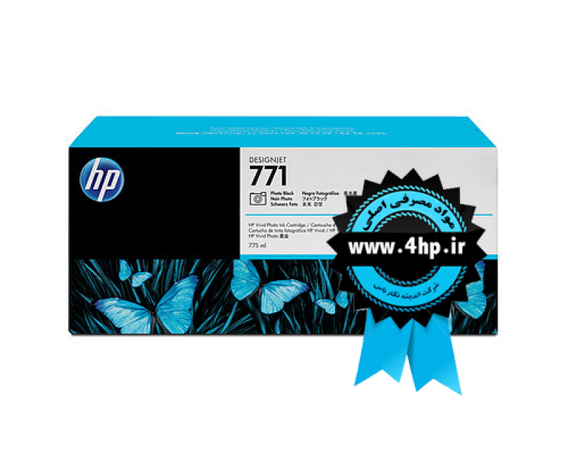 HP 771 775-ml Photo Black Designjet Ink Cartridge CE043A کارتریج ۷۷۱ مشکی فتو اچ پی