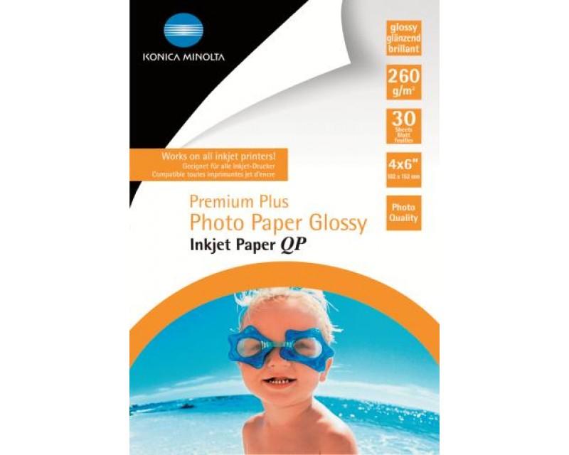 KONIKA MINOLTA Premium Plus Photo Paper Glossy Inkjet Paper QP 260 g/m2 10X15cm